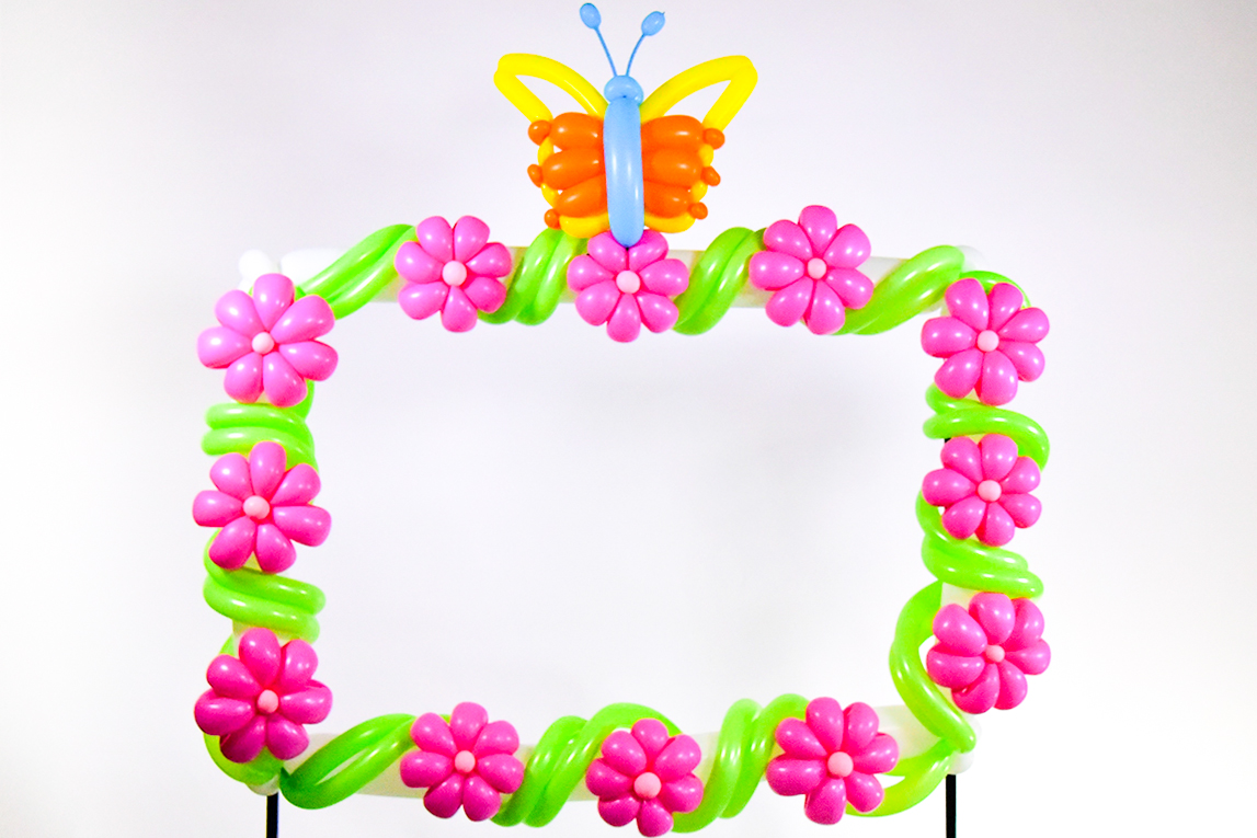 Flowers & Butterfly Frame | Balloon Extras Shop